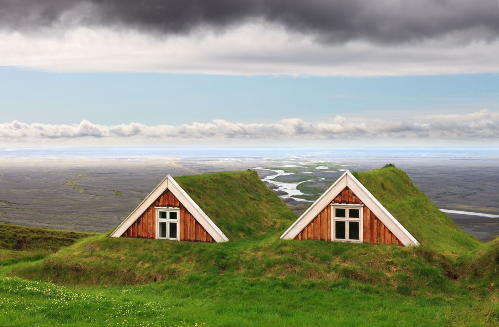 Traditional Farm Houses in Skaftafell National Park, Iceland