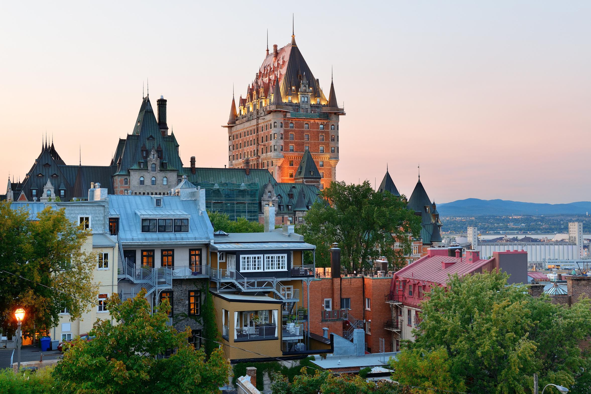 Québec City avec le chateau de Frontenac