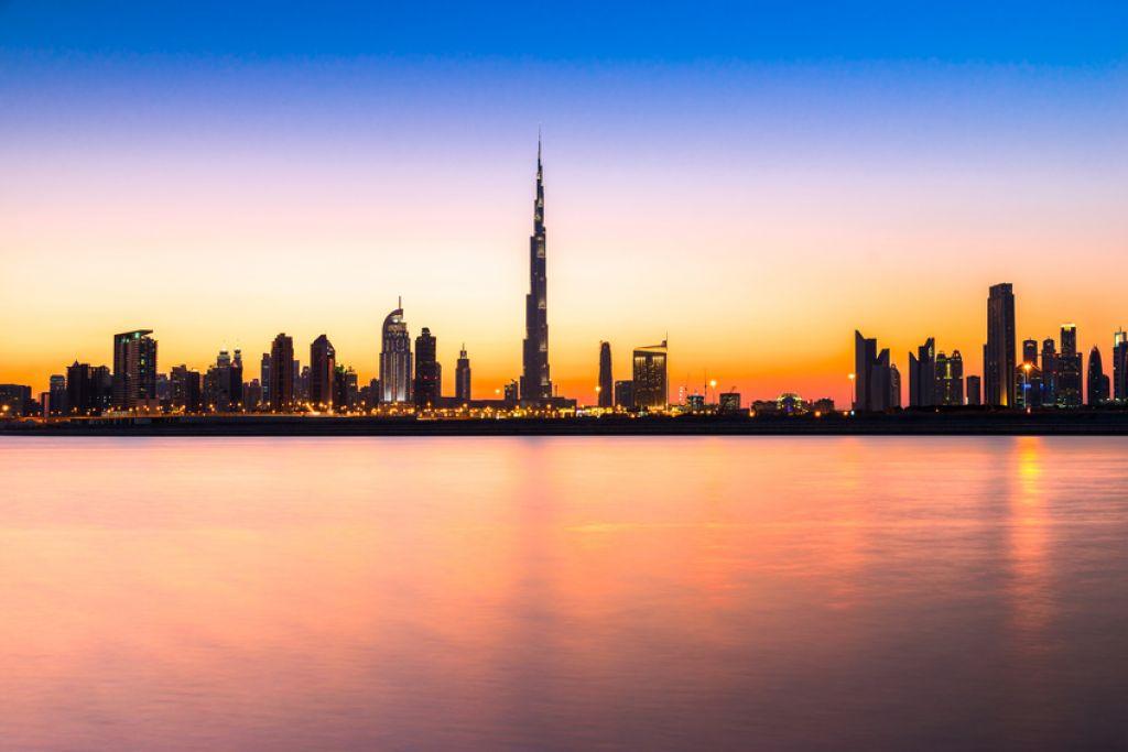 Dubai au coucher du soleil