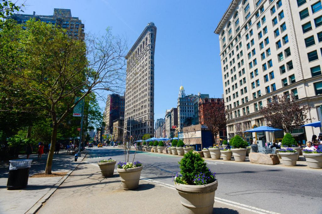 Flatiron building l'immeuble le plus plat de New York