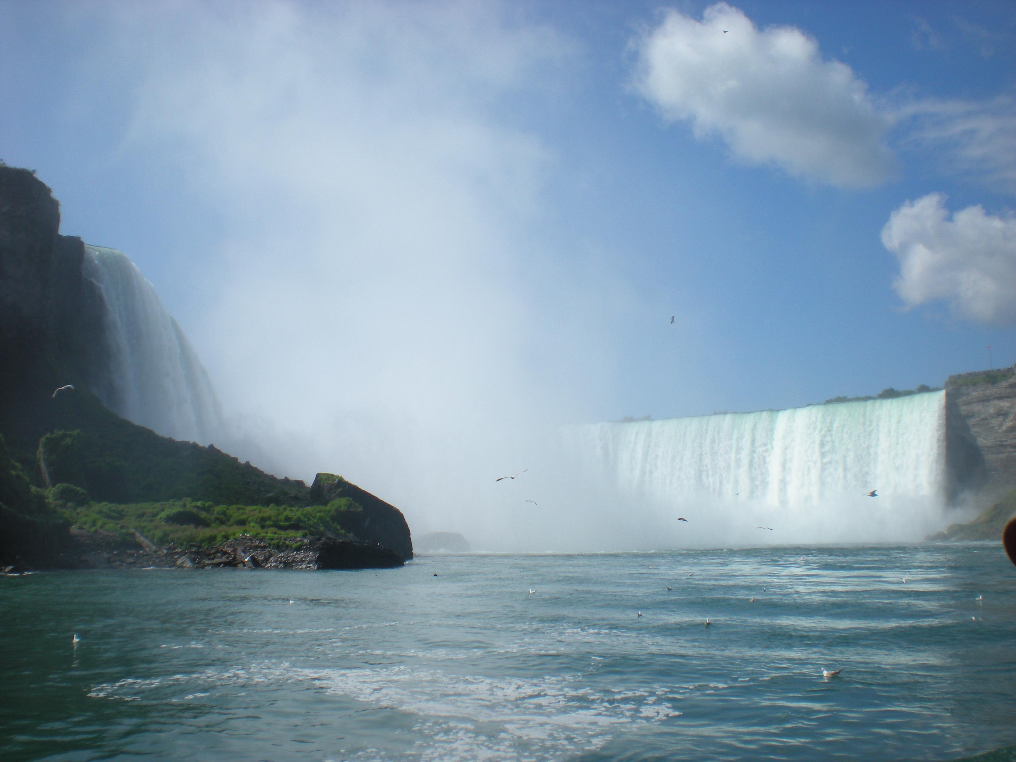 Chutes du Niagara (côté canadien depuis le bâteau)
