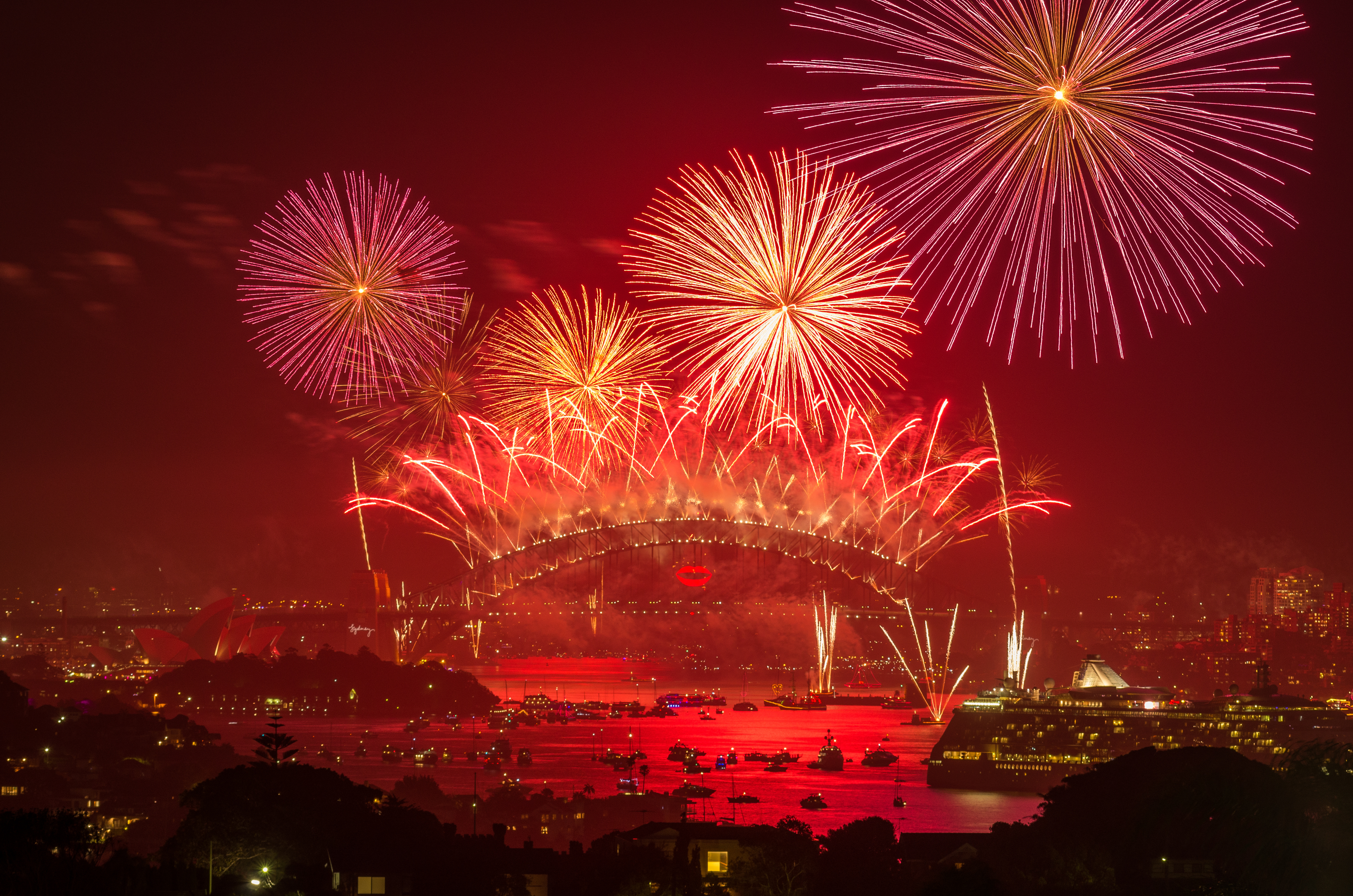 Feux d'artifices du nouvel an a Sydney