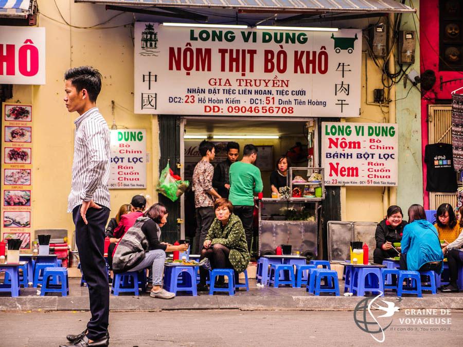 visiter hanoi et manger local