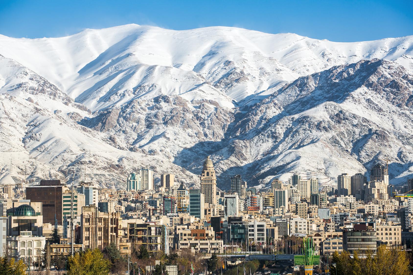 vue de Teheran en hiver