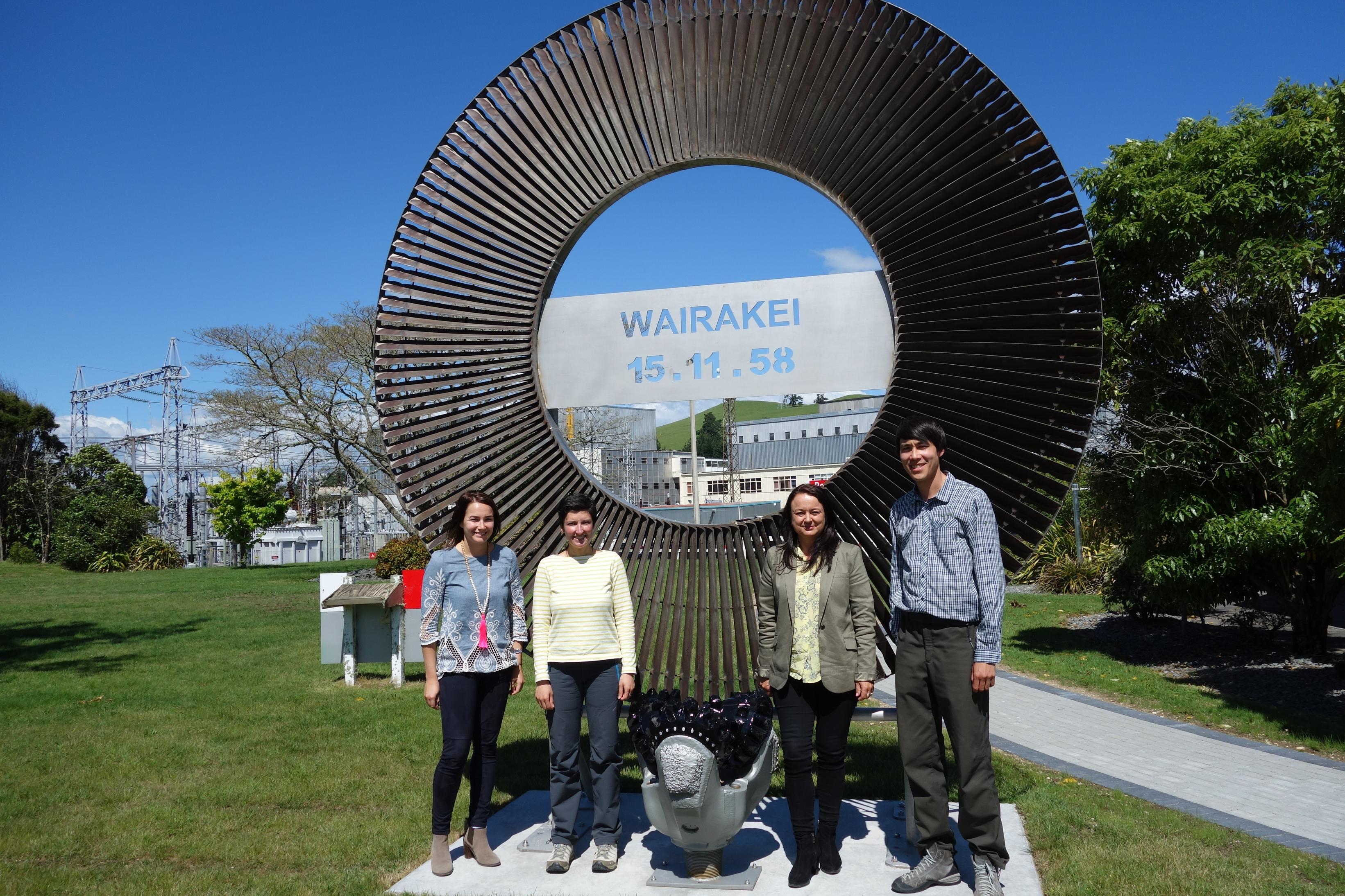 passage a wairakei en nouvelle zelande