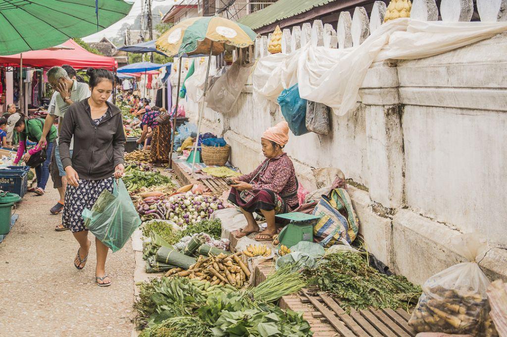Faire son marché à Luang Prabang