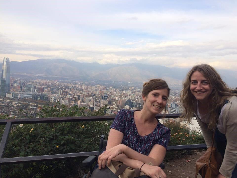 vue sur la capitale Santiago au Chili