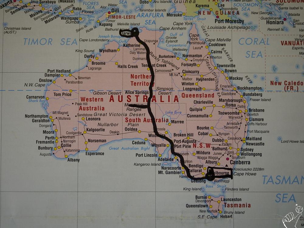traverser l'Australie en auto-stop