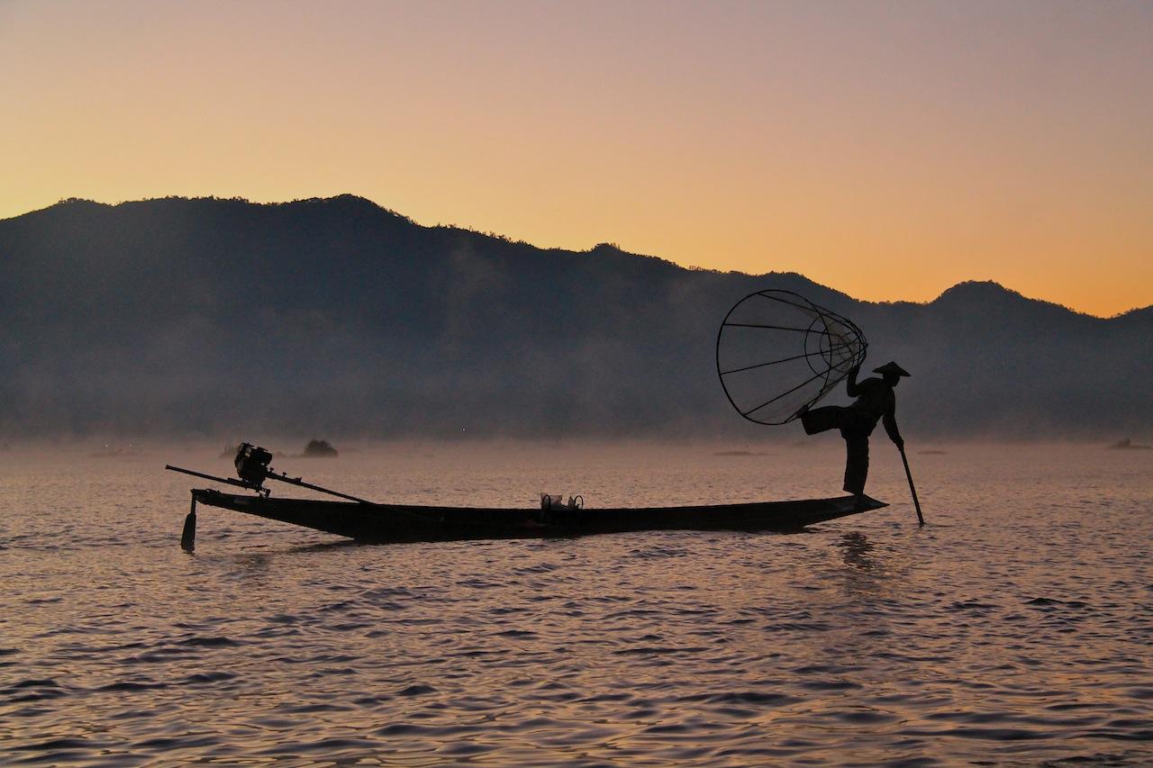 le lac Inlé au Myanmar