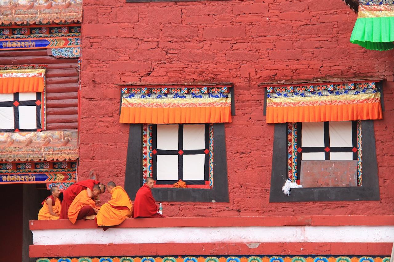 le monastere de Tagong en Chine