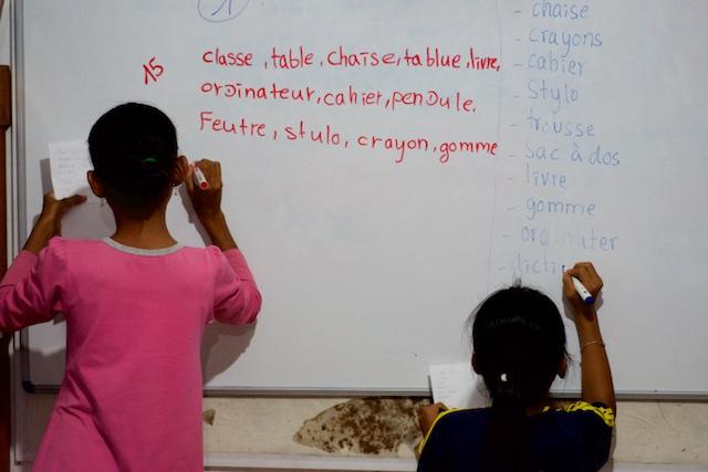 donner des cours de français au cambodge