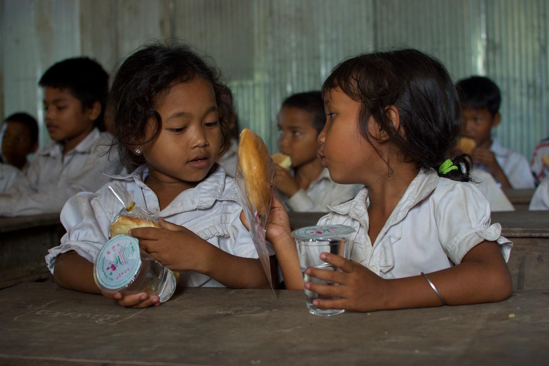 les enfant de l'ecole lors de ce benevolat au Cambodge