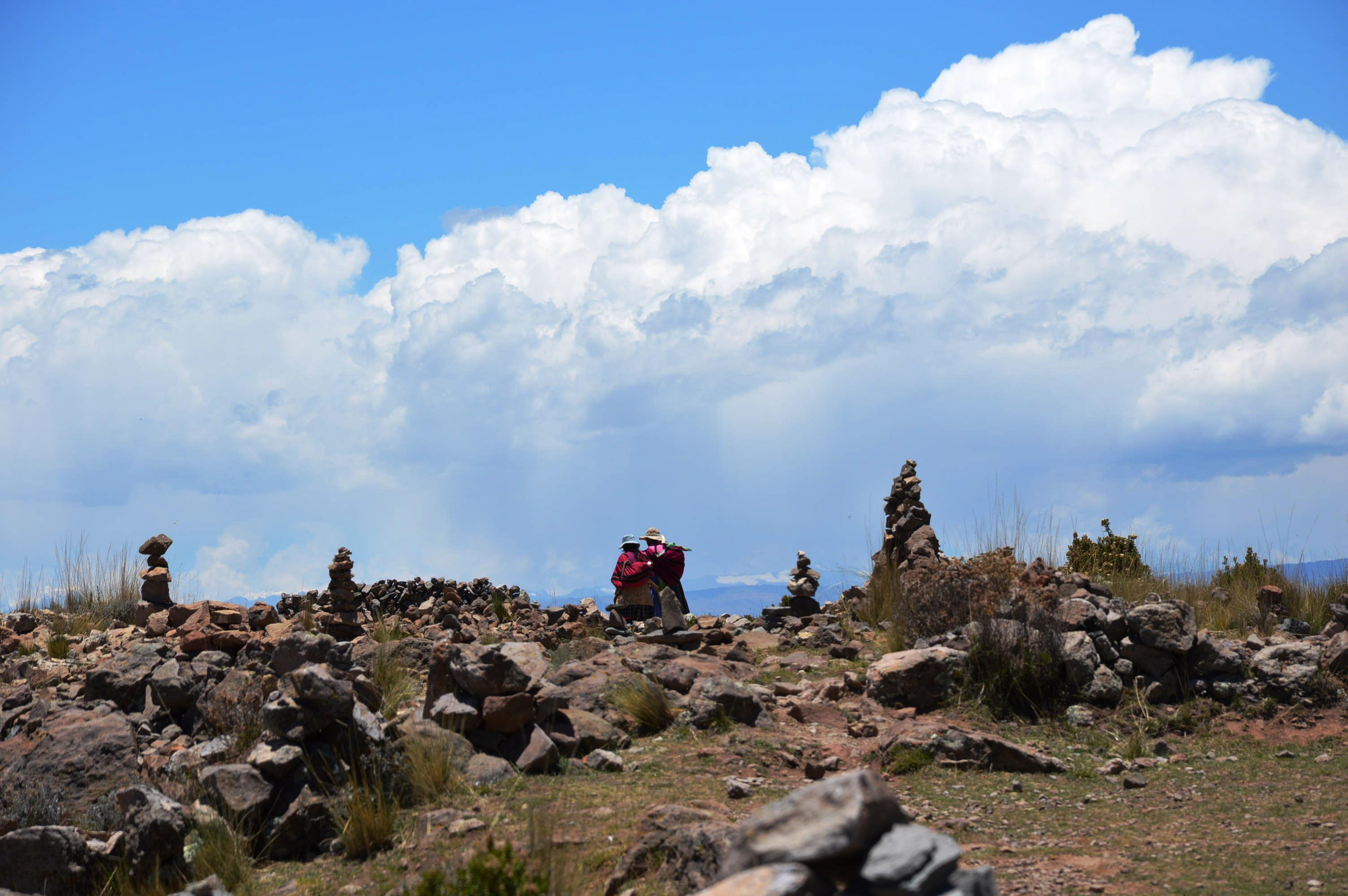la pachamama sur le lac titicaca