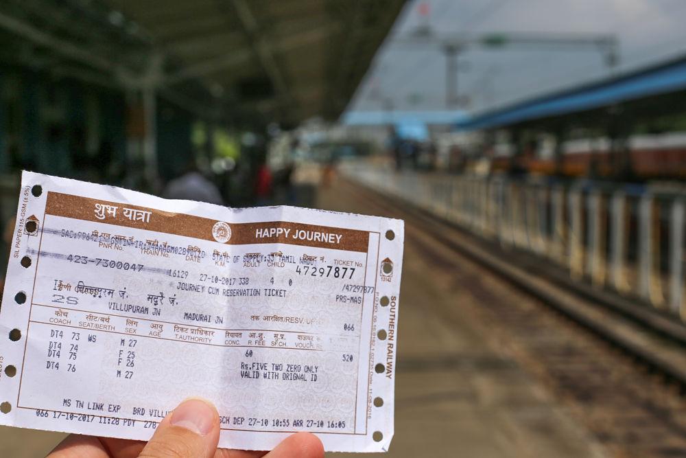 billet de train en Inde