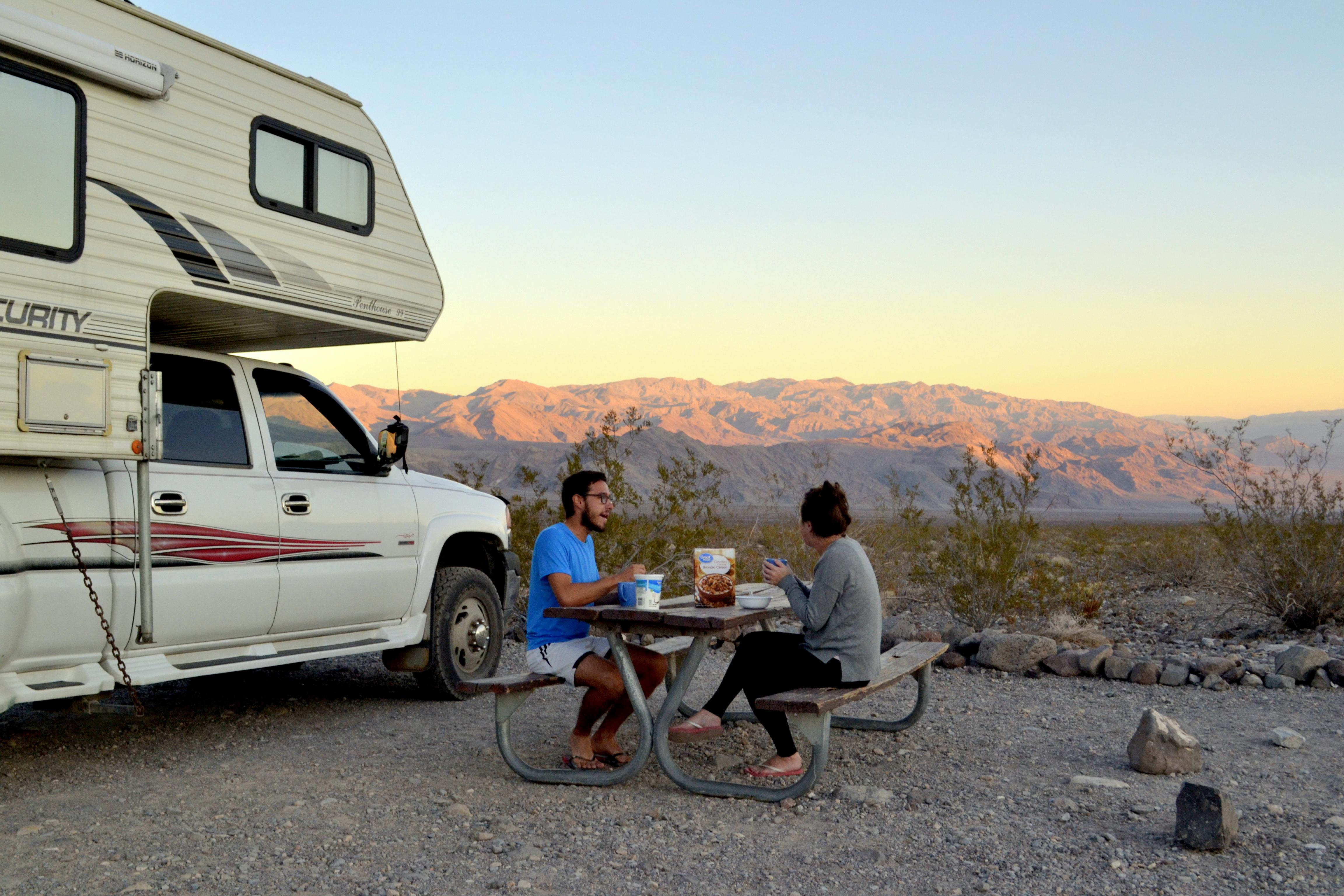 lever de soleil dans la Death Valley