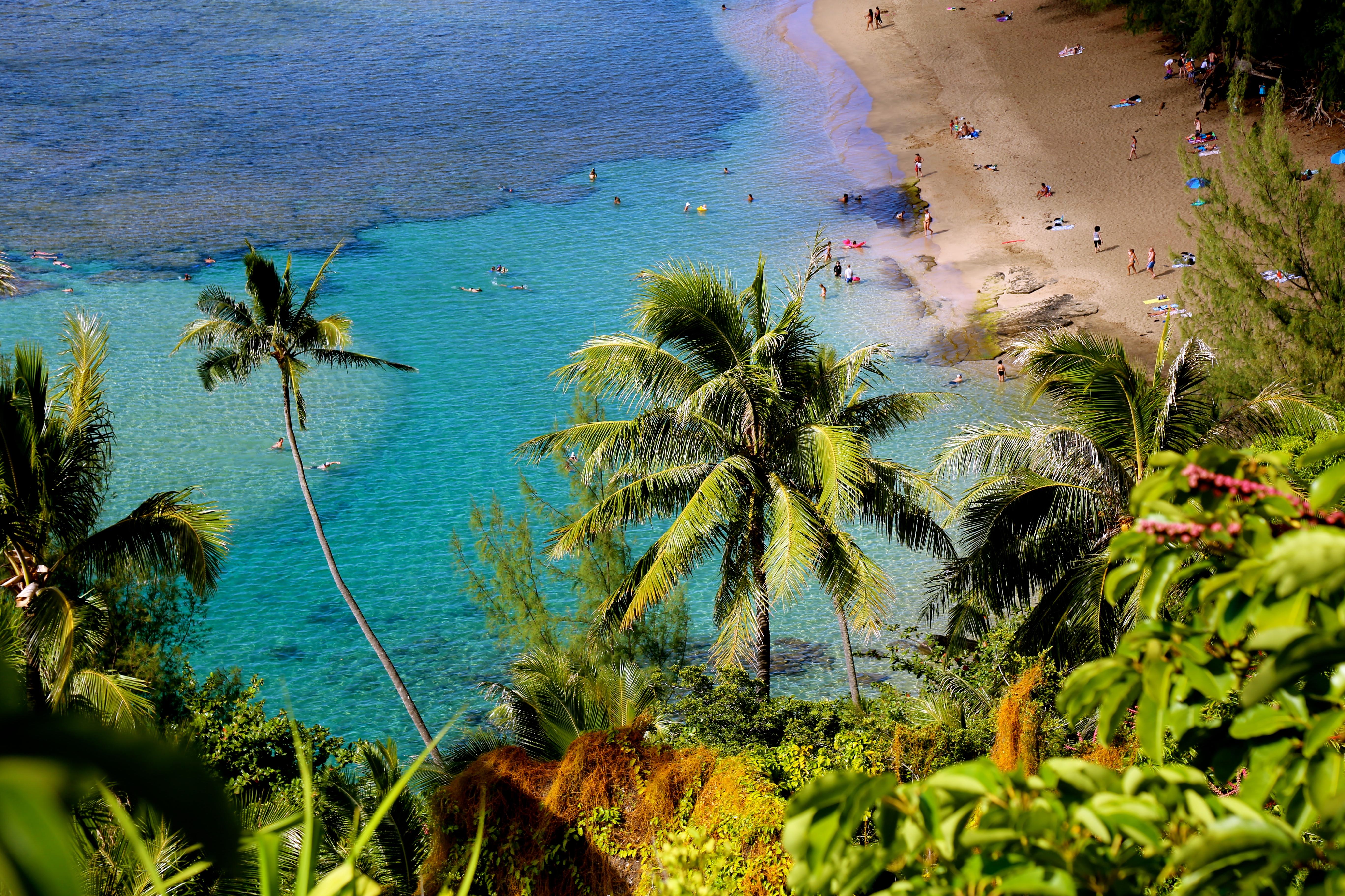 le plage de Kee Beach sur l'ile de Kauai
