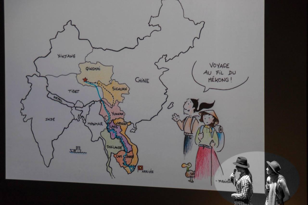 bande dessinée sur le tourisme en asie