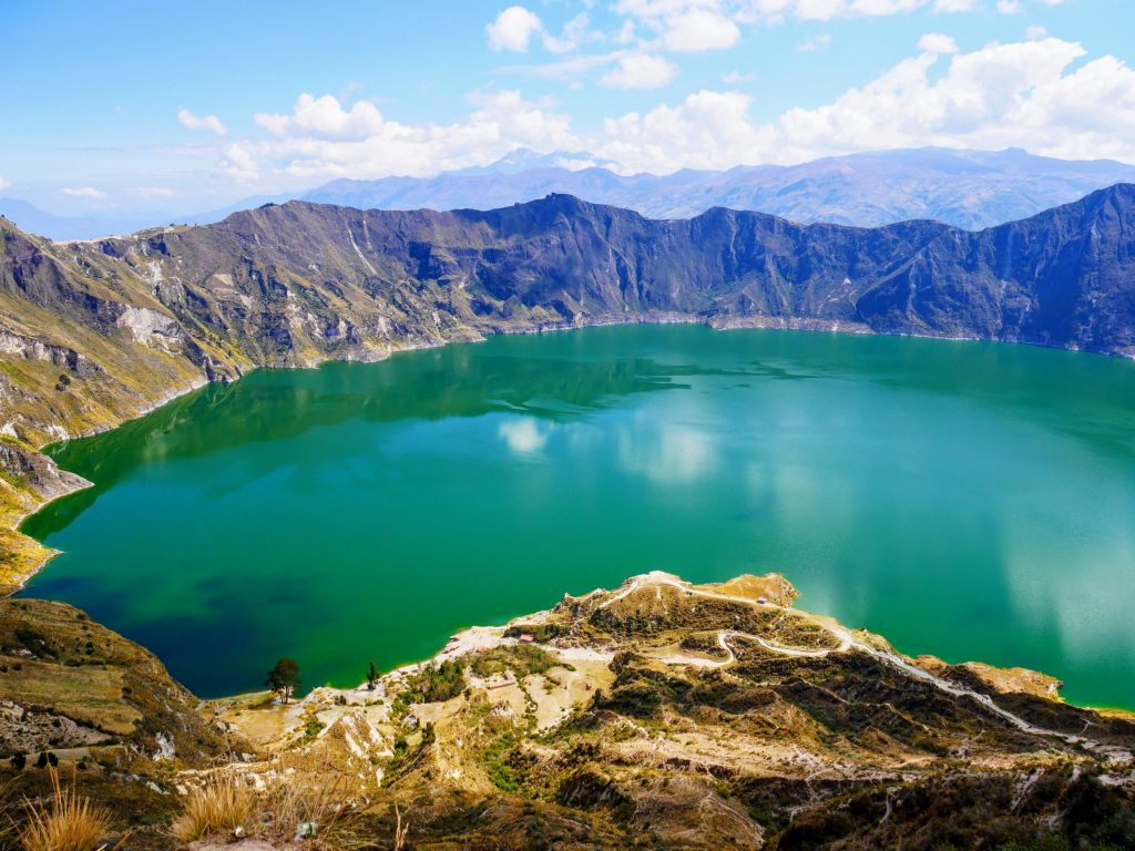 randonnée en equateur laguna quilotoa