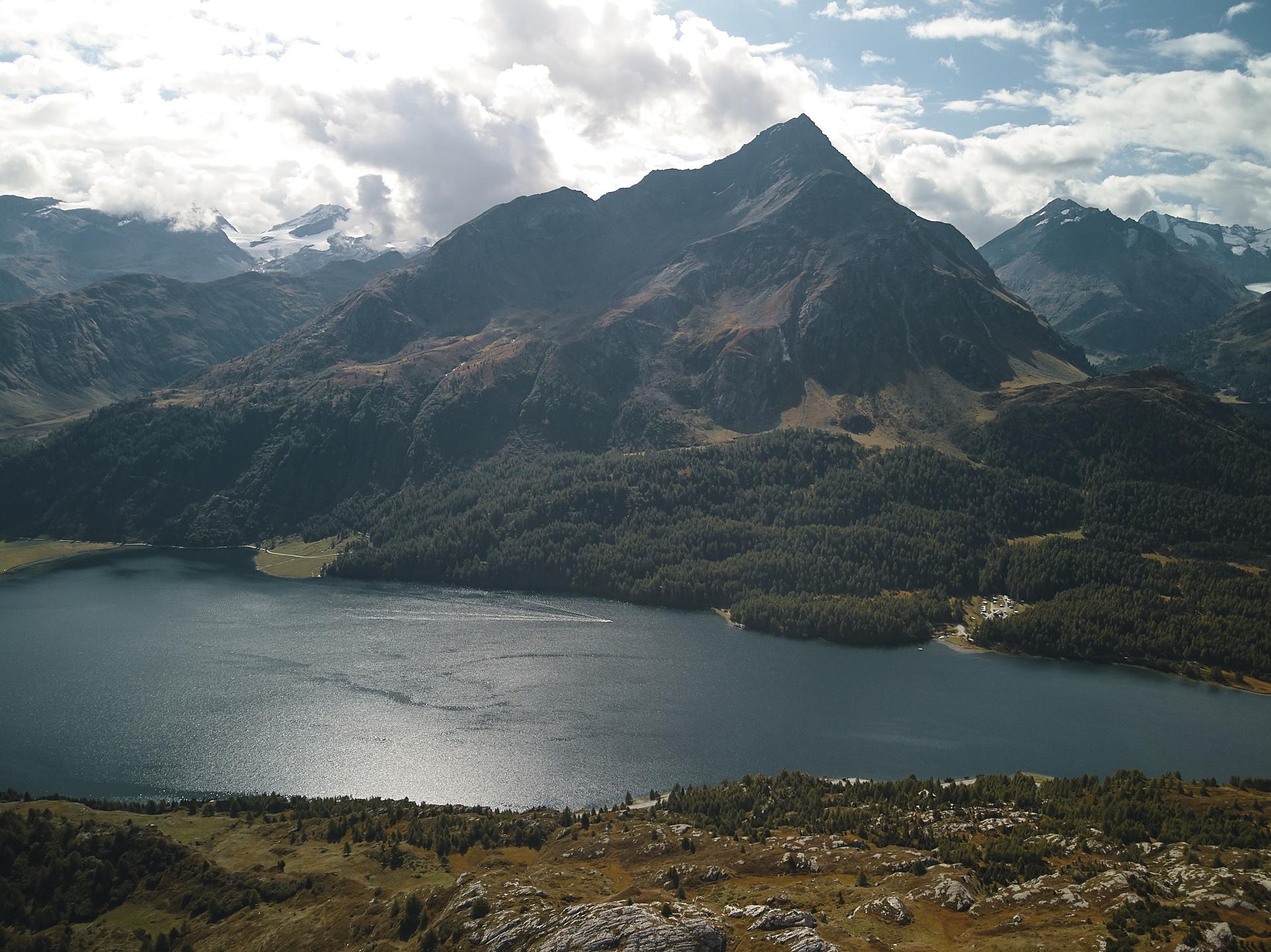 randonnée autour du lac de Silvaplana ou de Sils