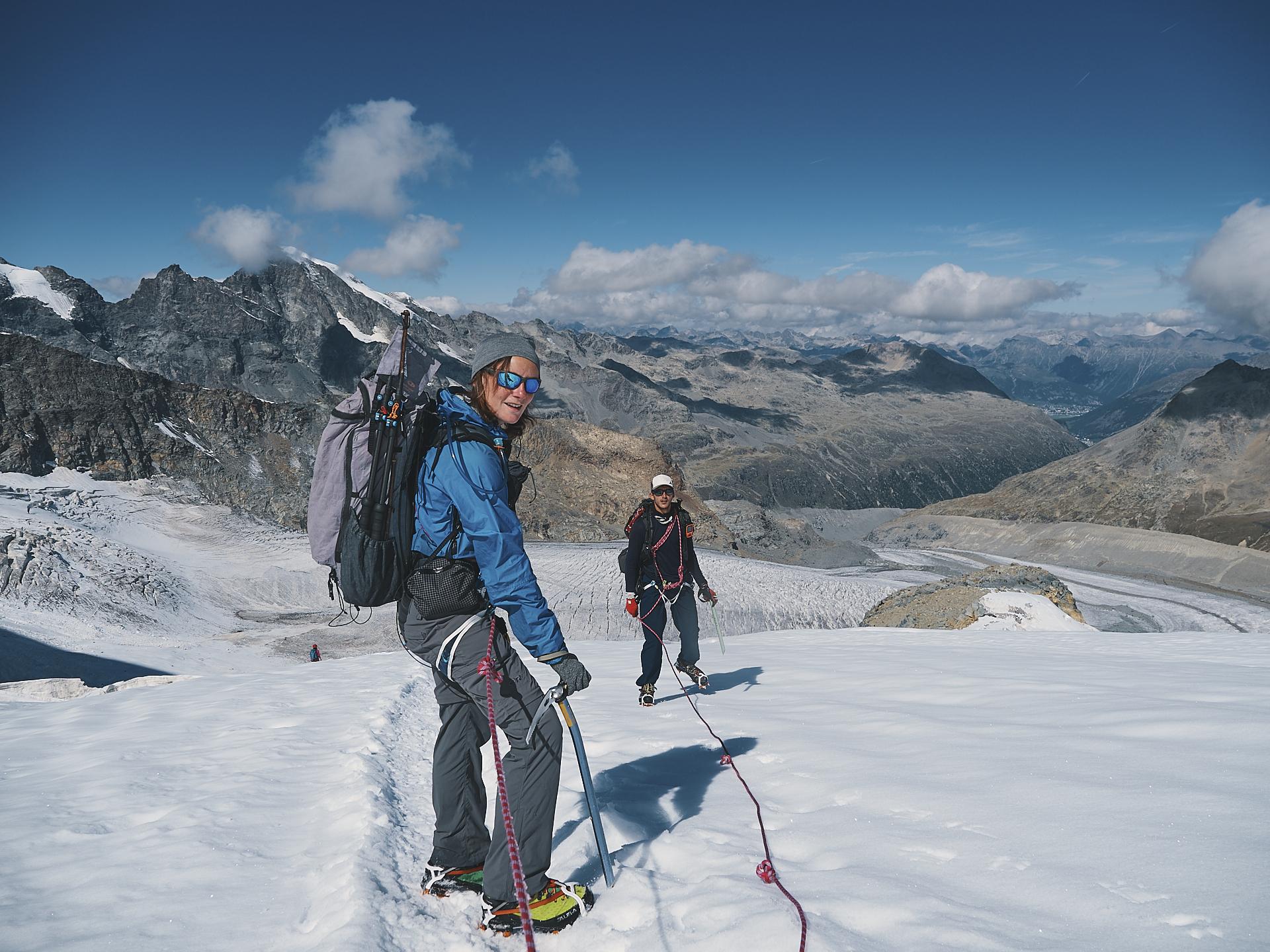 randonnée sur la Bernina