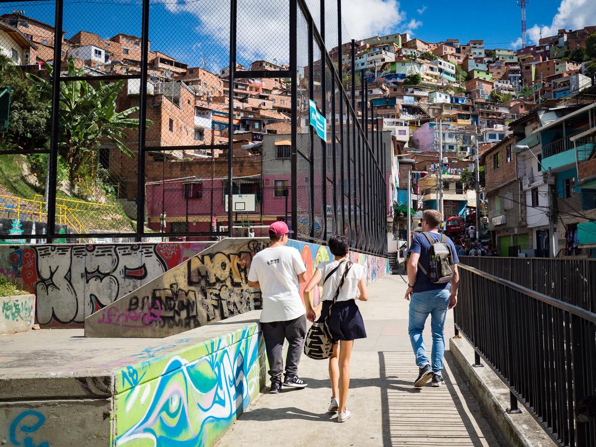 tour des graffitis à Medellin